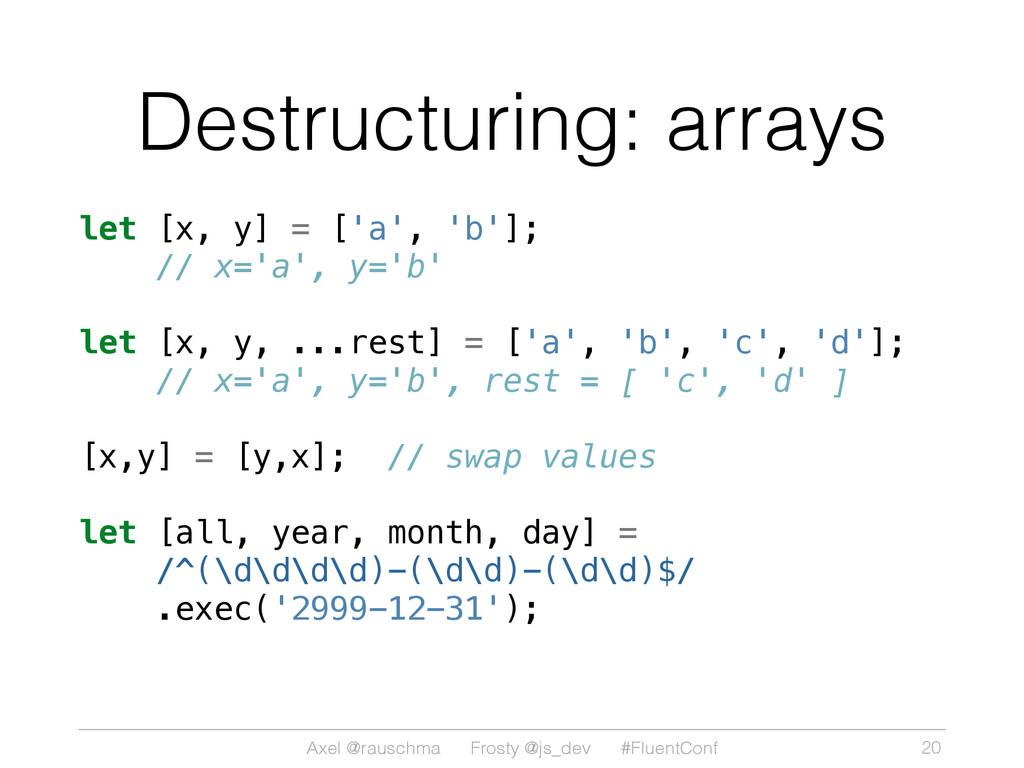 Axel @rauschma Frosty @js_dev #FluentConf Destr...