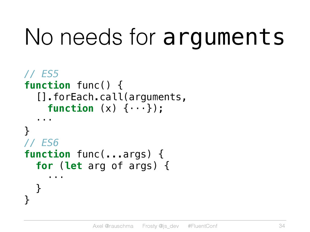 Axel @rauschma Frosty @js_dev #FluentConf No ne...