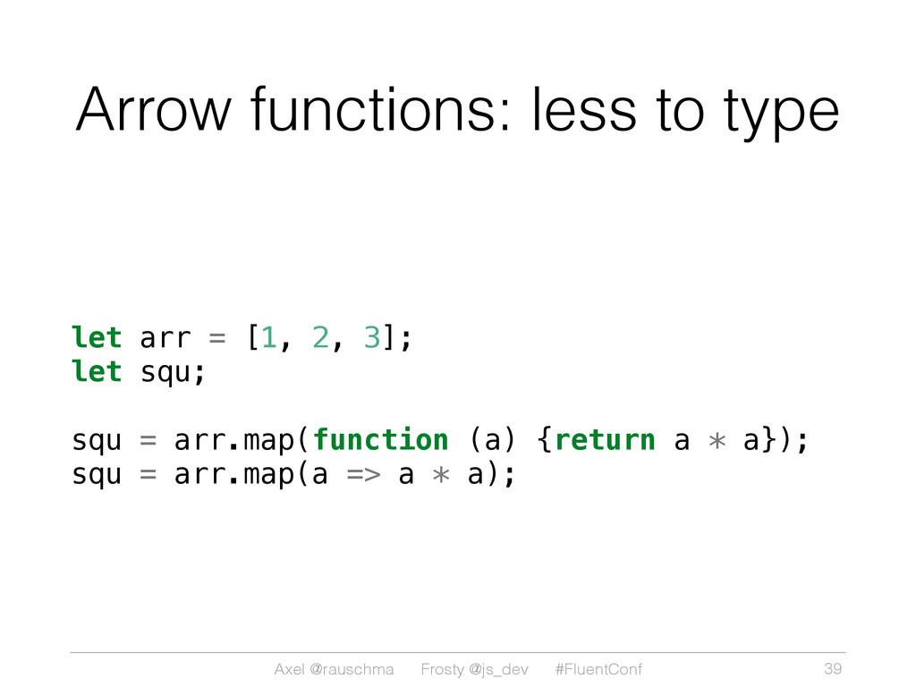 Axel @rauschma Frosty @js_dev #FluentConf Arrow...