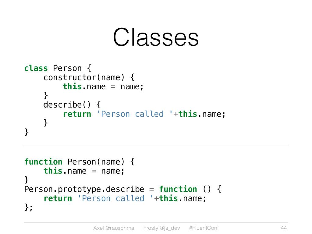 Axel @rauschma Frosty @js_dev #FluentConf Class...