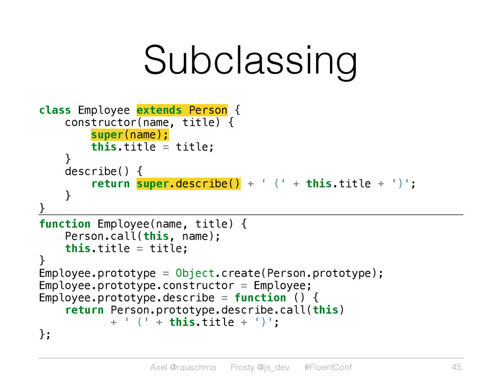 Axel @rauschma Frosty @js_dev #FluentConf Subcl...