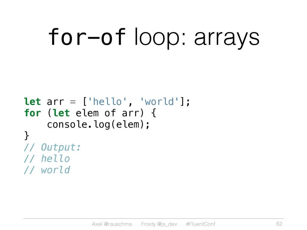 Axel @rauschma Frosty @js_dev #FluentConf for-o...