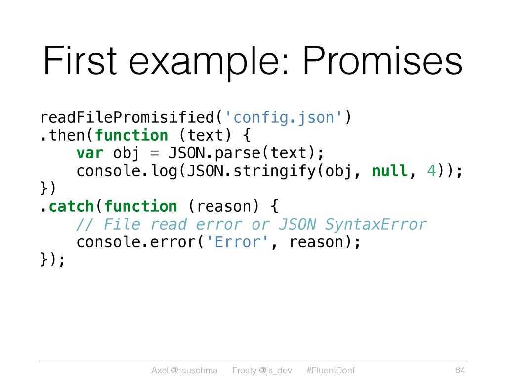 Axel @rauschma Frosty @js_dev #FluentConf First...