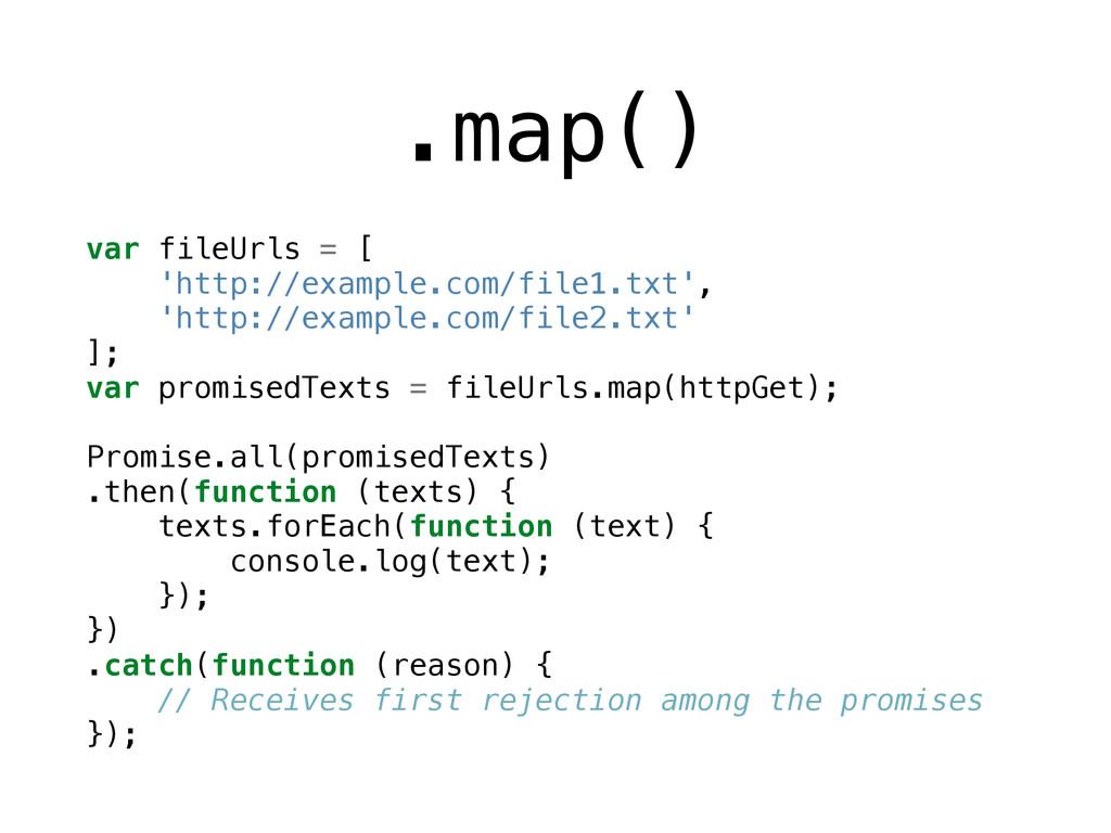 .map() var fileUrls = [ 'http://example.com/fil...