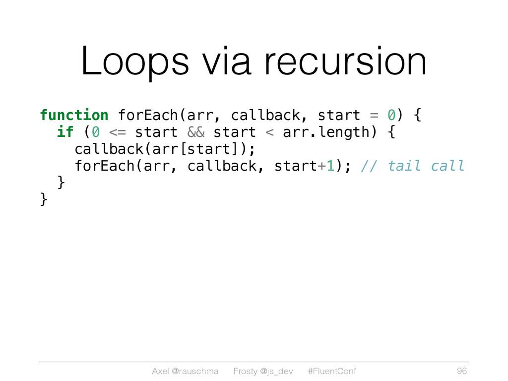 Axel @rauschma Frosty @js_dev #FluentConf Loops...