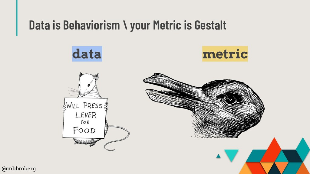 Data is Behaviorism \ your Metric is Gestalt da...