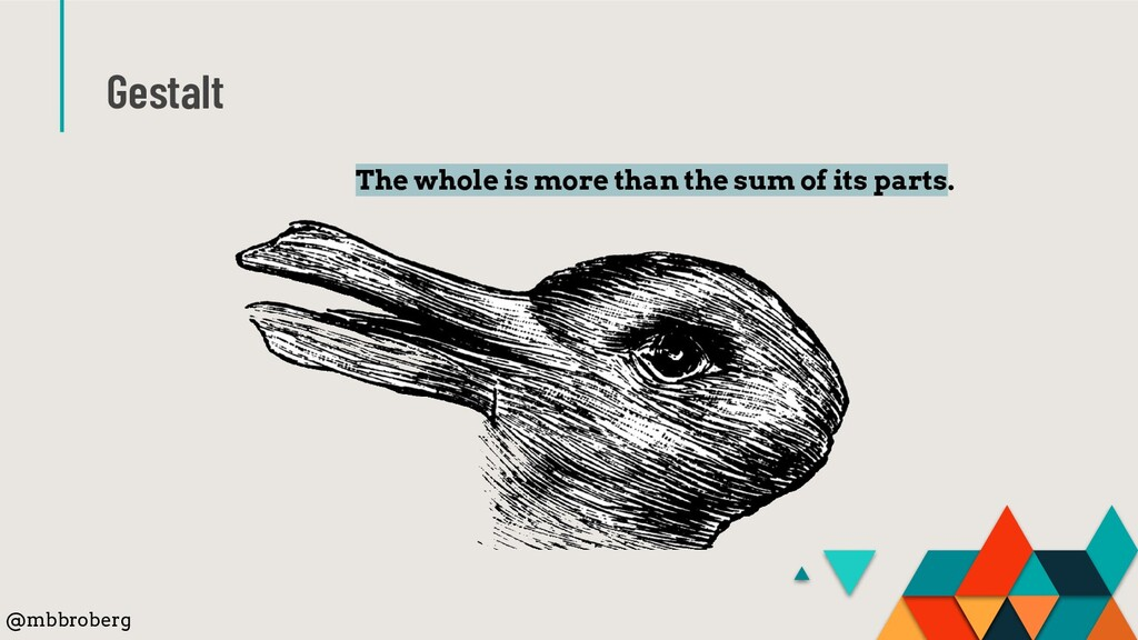 Gestalt The whole is more than the sum of its p...