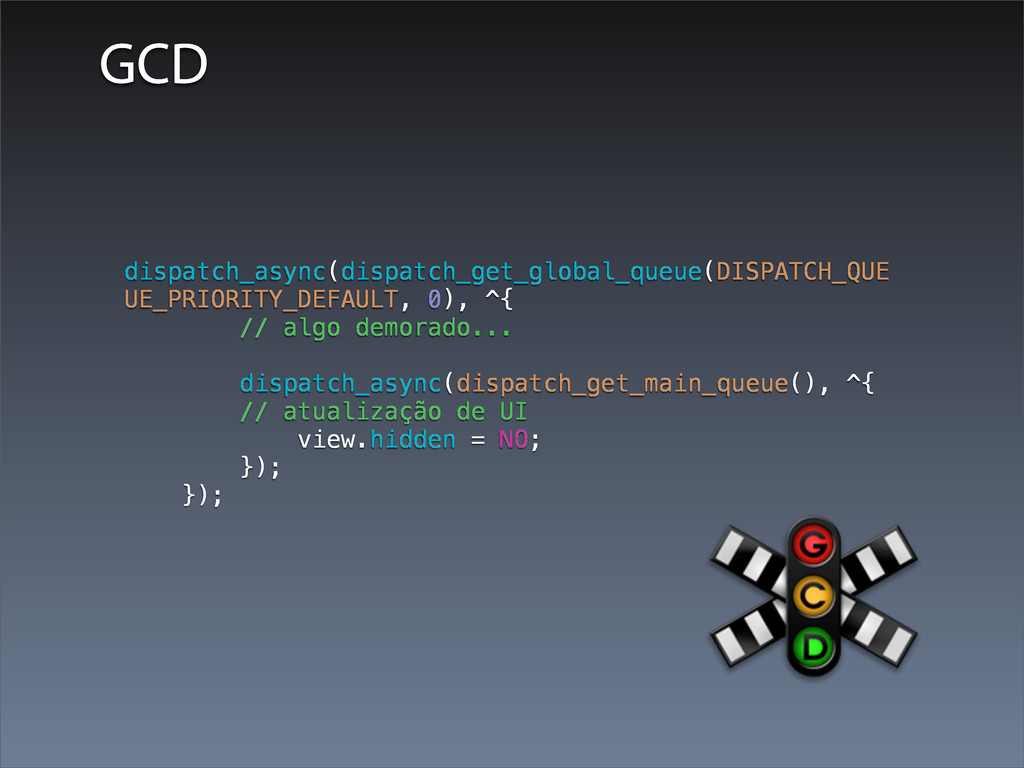 GCD dispatch_async(dispatch_get_global_queue(DI...