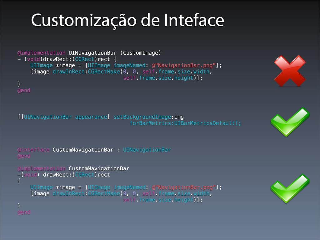 @implementation UINavigationBar (CustomImage) -...
