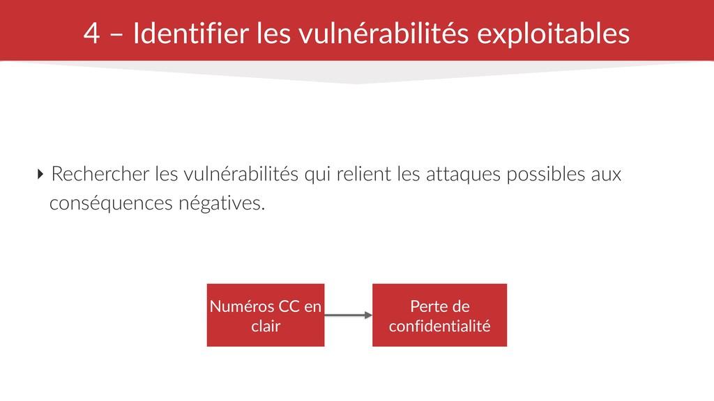 4 – Identifier les vulnérabilités exploitables ...