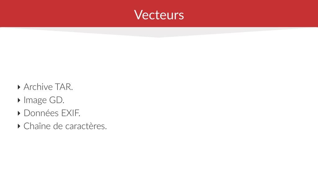 Vecteurs ‣ Archive TAR. ‣ Image GD. ‣ Données E...