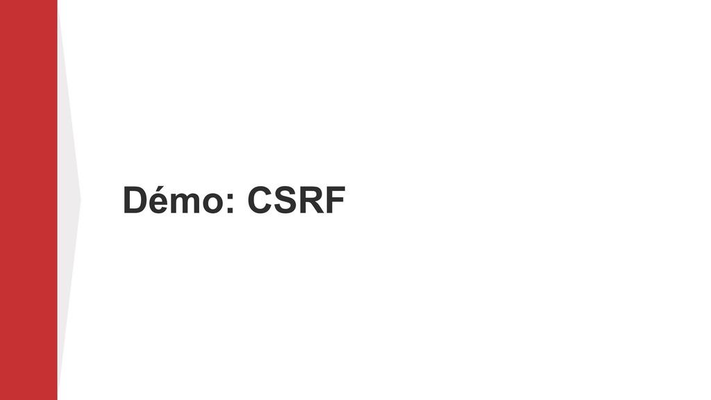 Démo: CSRF