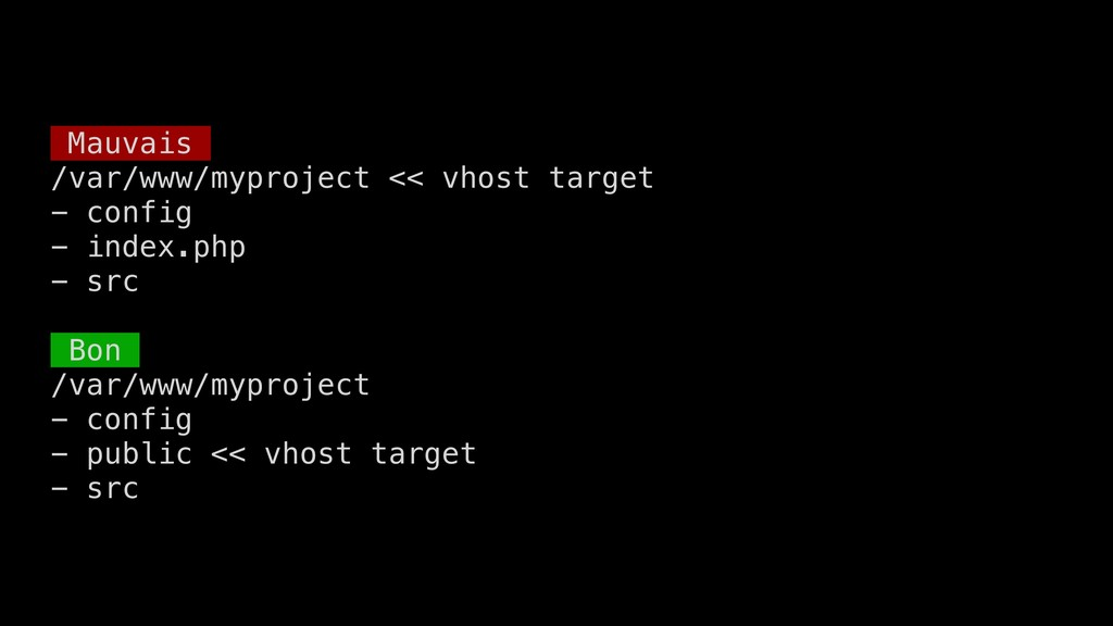 Mauvais /var/www/myproject << vhost target - co...