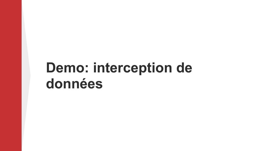Demo: interception de données