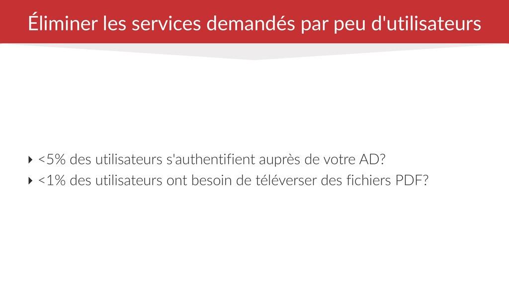 Éliminer les services demandés par peu d'utilis...