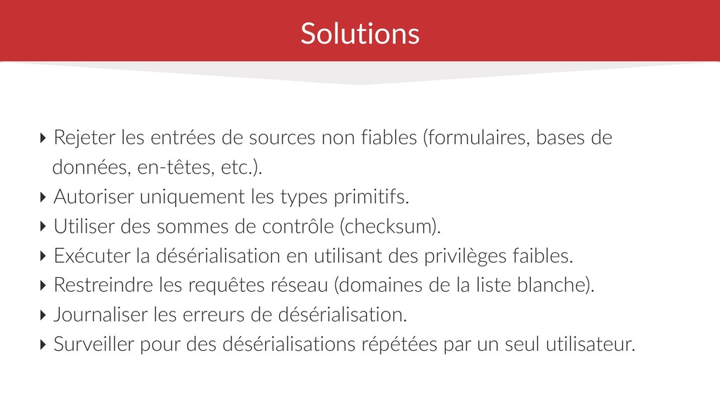 Solutions ‣ Rejeter les entrées de sources non ...