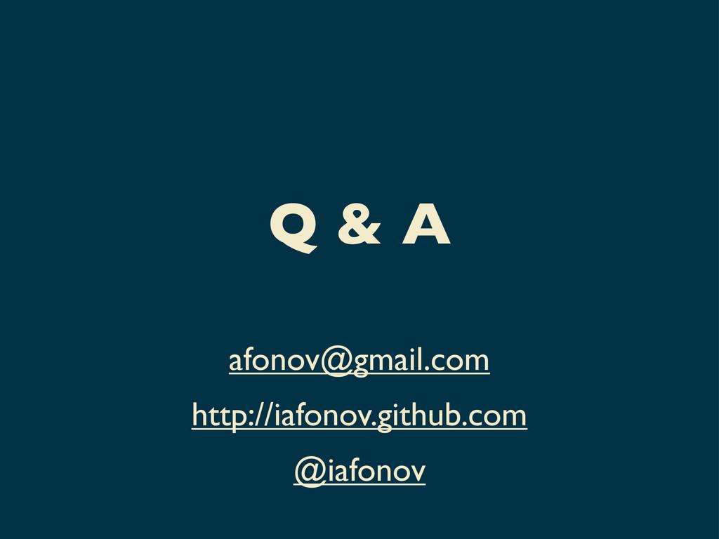 Q & A afonov@gmail.com http://iafonov.github.co...