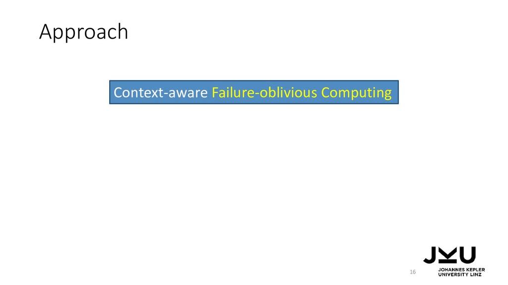 Approach 16 Context-aware Failure-oblivious Com...