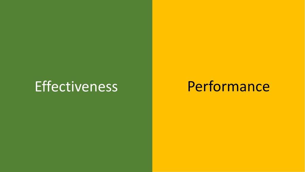 39 Effectiveness Performance