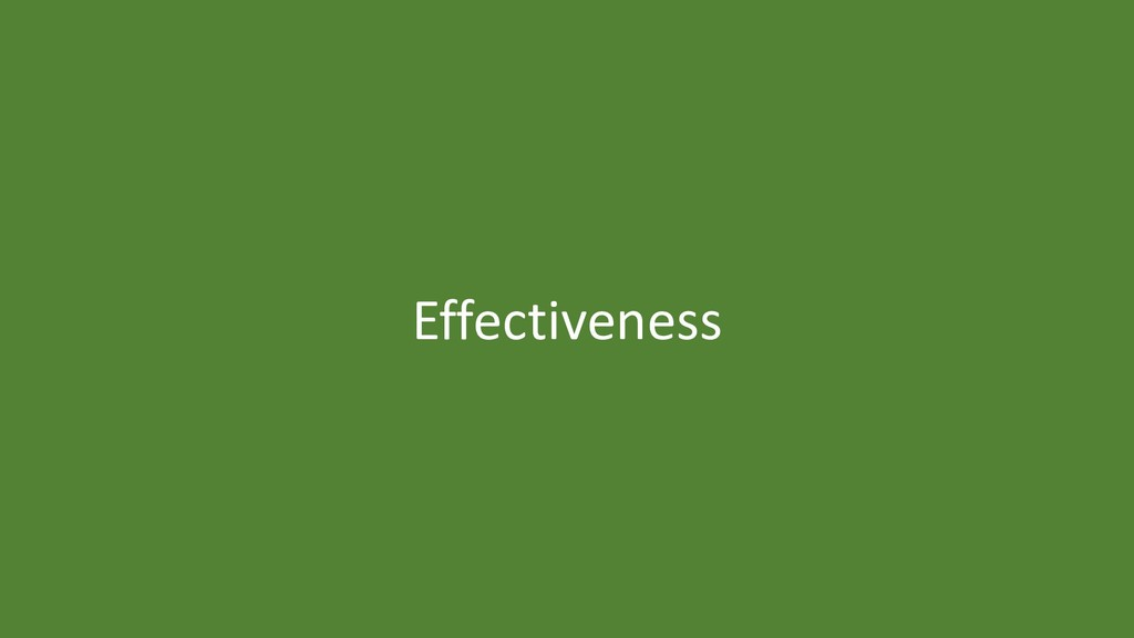 40 Effectiveness