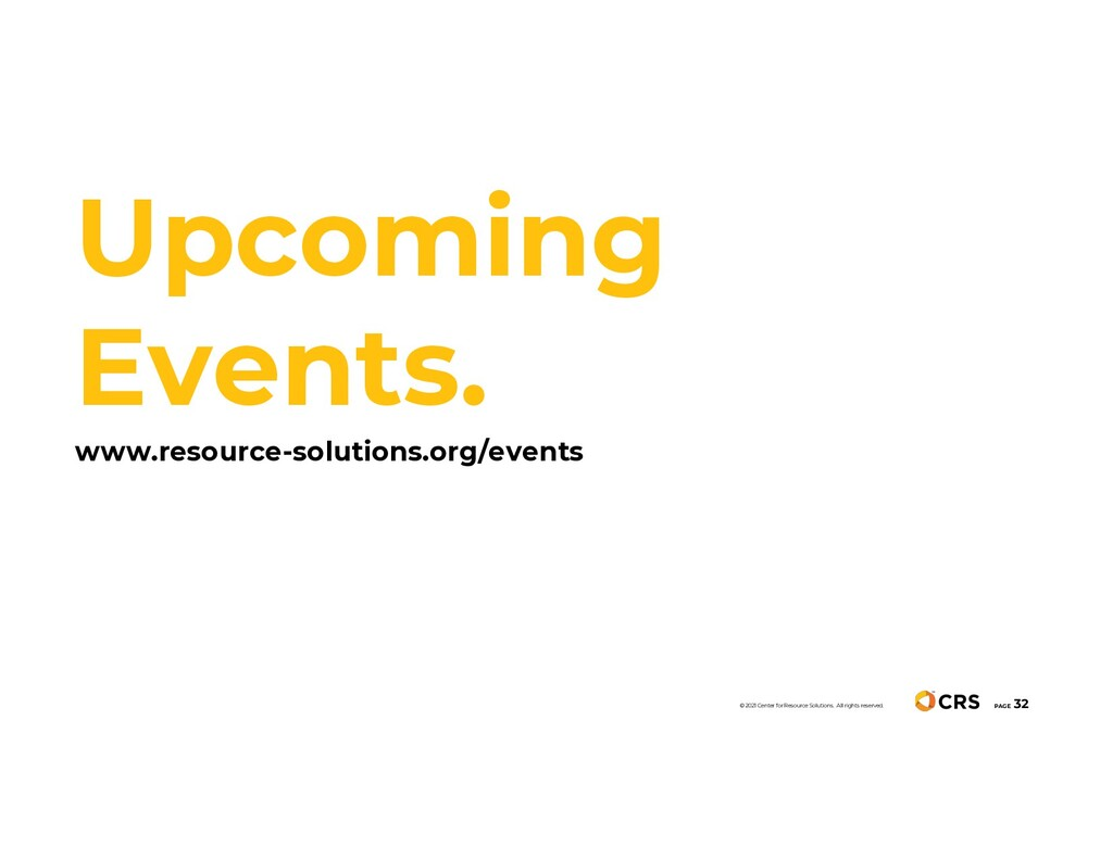 Upcoming Events. www.resource-solutions.org/eve...