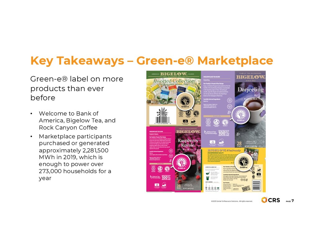 Green-e® label on more products than ever befor...