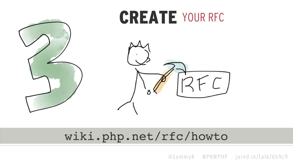 @SammyK #PNWPHP joind.in/talk/6b9c9 YOUR RFC CR...