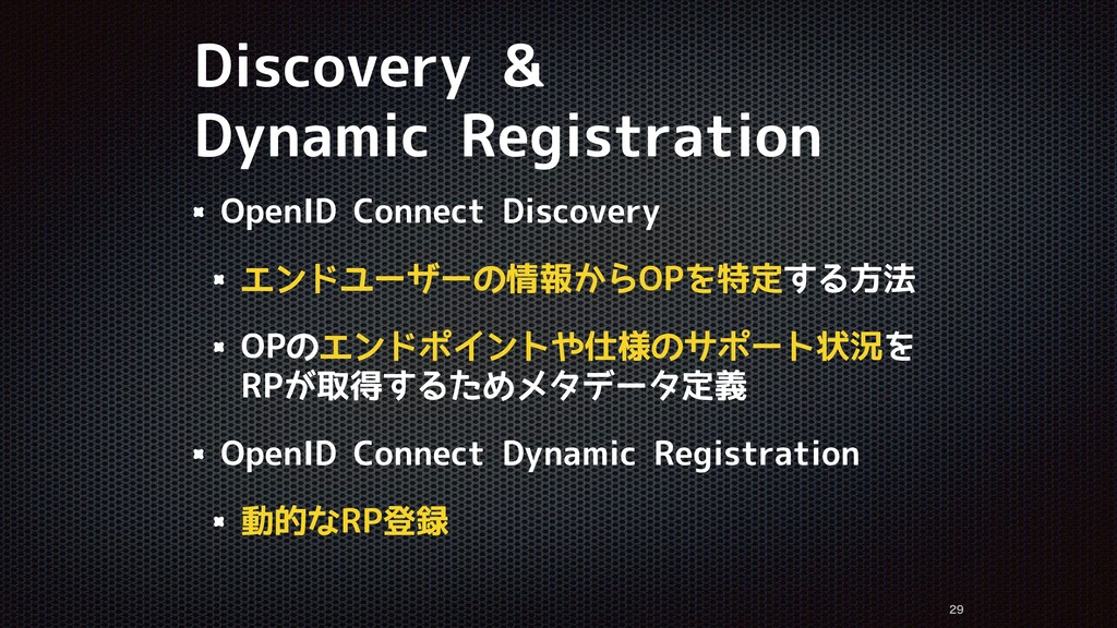 Discovery & Dynamic Registration   OpenID Co...