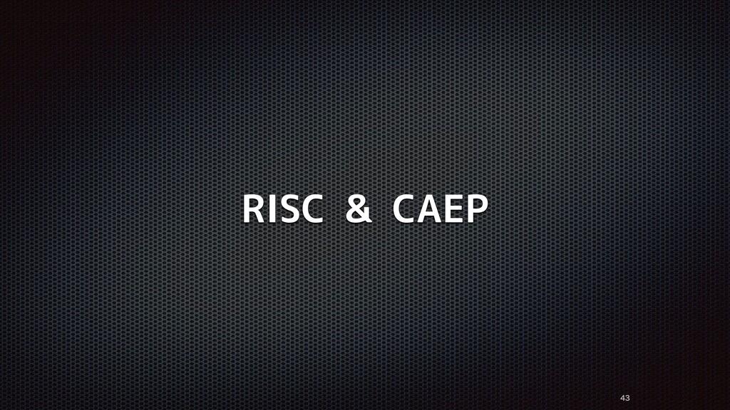 RISC & CAEP