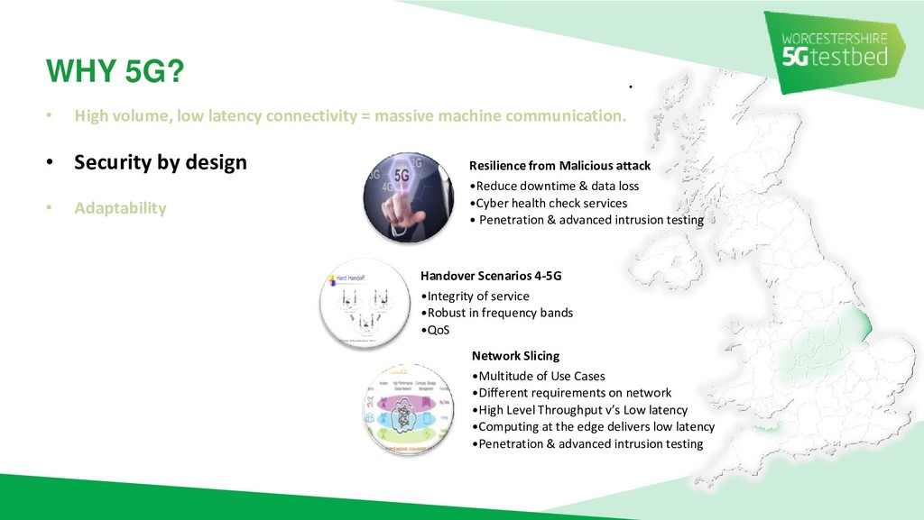 . WHY 5G? • High volume, low latency connectivi...