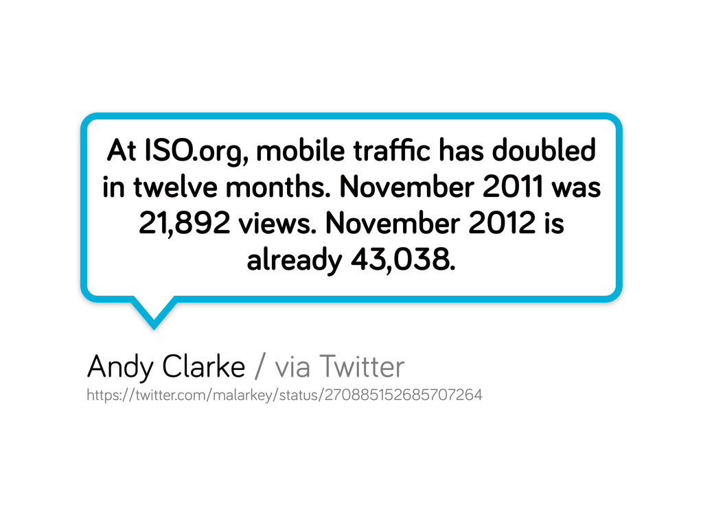 At ISO.or , mobile traffic has doubled in twelve ...