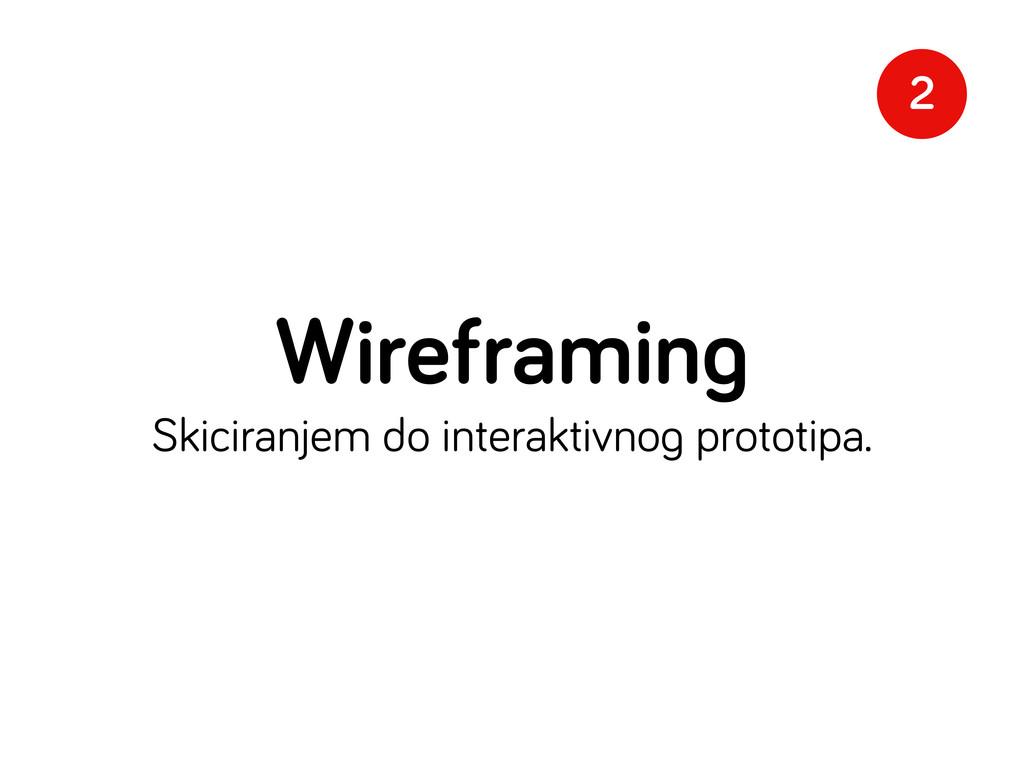 Wireframin Skiciranjem do interaktivno prototip...