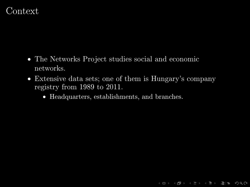 Context • The Networks Project studies social a...