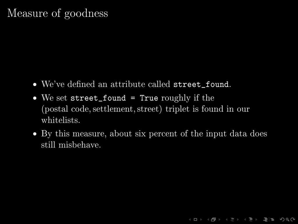 Measure of goodness • We've dened an attribute...