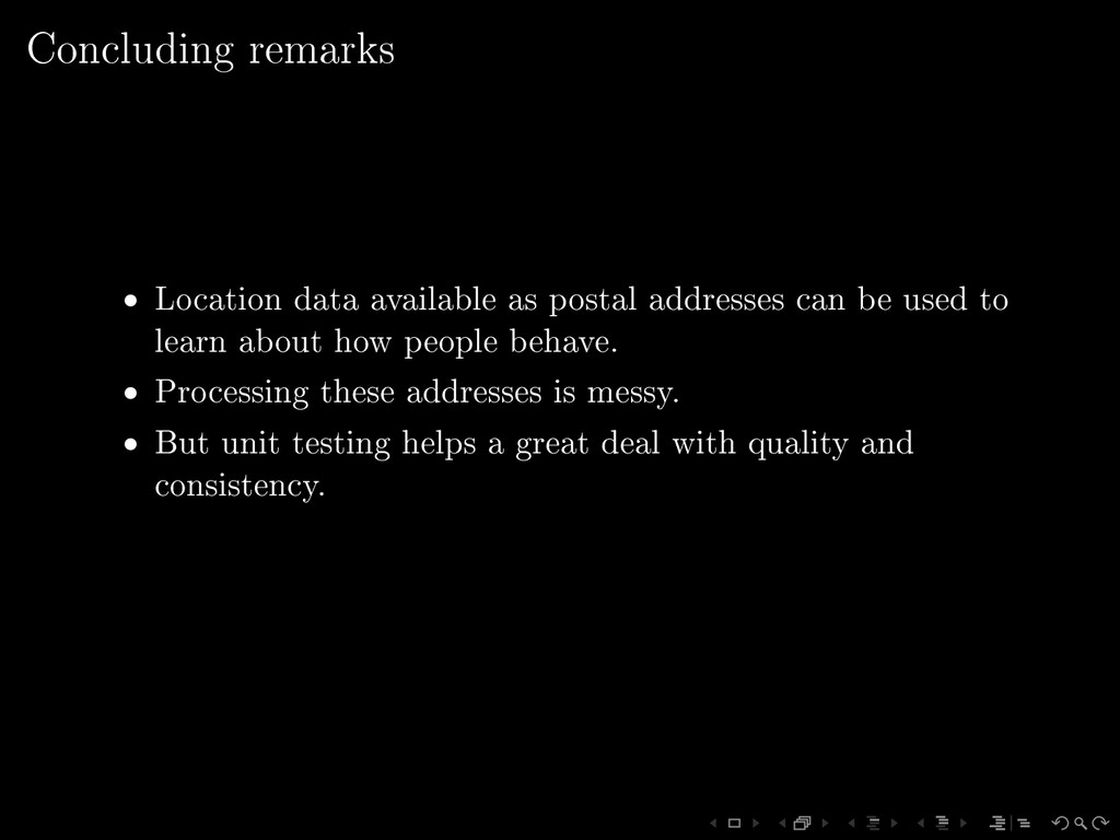 Concluding remarks • Location data available as...