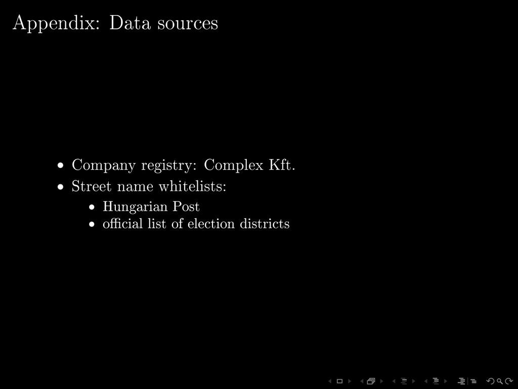 Appendix: Data sources • Company registry: Comp...