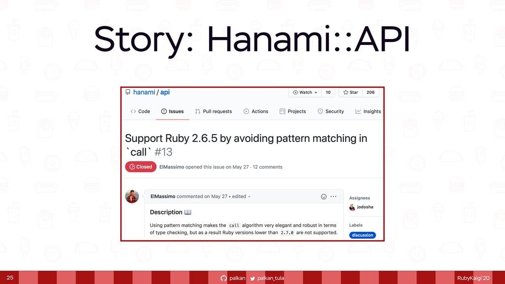 palkan_tula palkan RubyKaigi'20 Story: Hanami::...