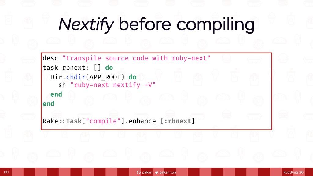 """palkan_tula palkan RubyKaigi'20 desc """"transpile..."""