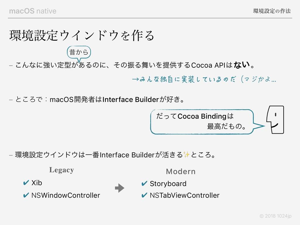 macOS native ڥઃఆͷ࡞๏ © 2018 1024jp – ͜Μͳʹڧ͍ఆܕ͕͋...