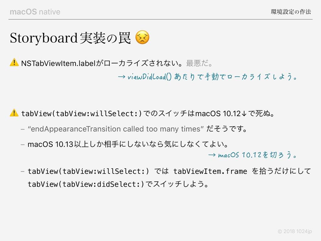 macOS native ڥઃఆͷ࡞๏ © 2018 1024jp 4UPSZCPBSE࣮...