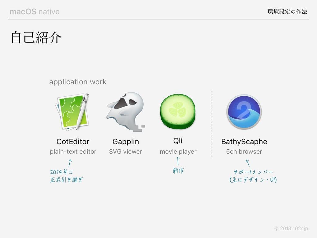 macOS native ڥઃఆͷ࡞๏ © 2018 1024jp ࣗݾհ CotEdit...