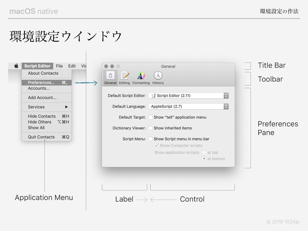 macOS native ڥઃఆͷ࡞๏ © 2018 1024jp ڥઃఆΠϯυ To...