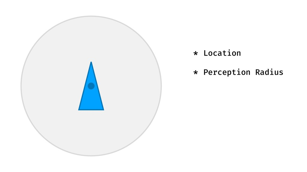 * Location * Perception Radius