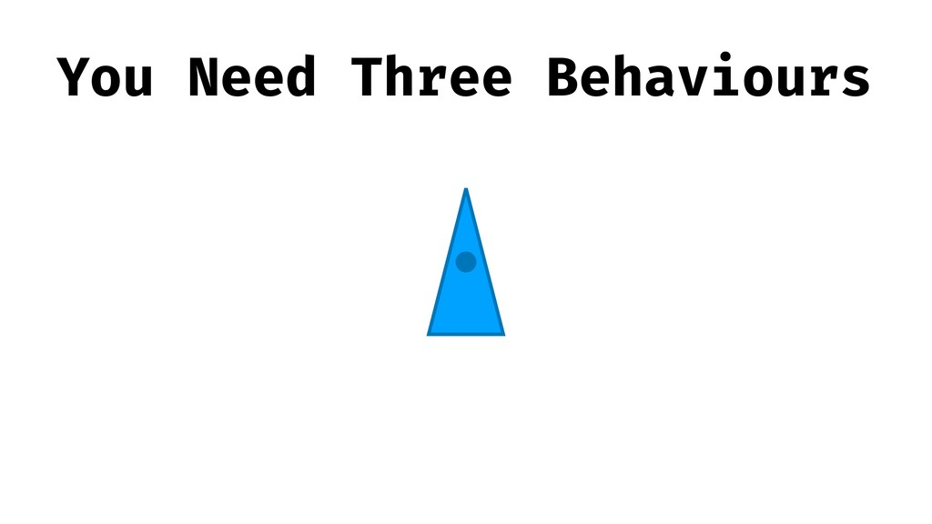 You Need Three Behaviours