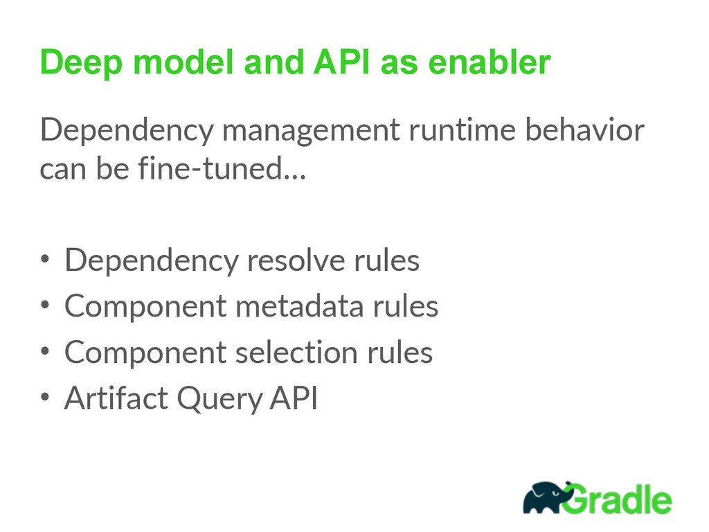 Deep model and API as enabler Dependency  manag...