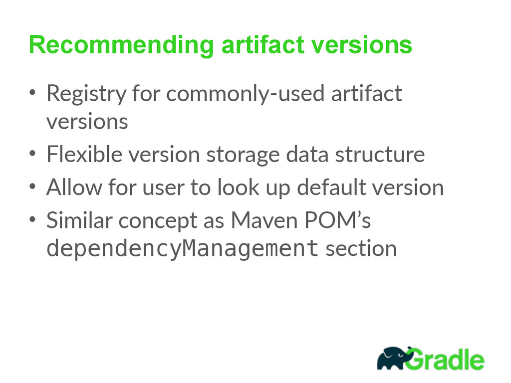 Recommending artifact versions • Registry  for ...
