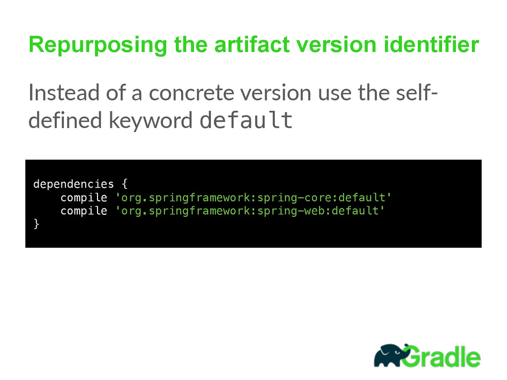 Repurposing the artifact version identifier Ins...