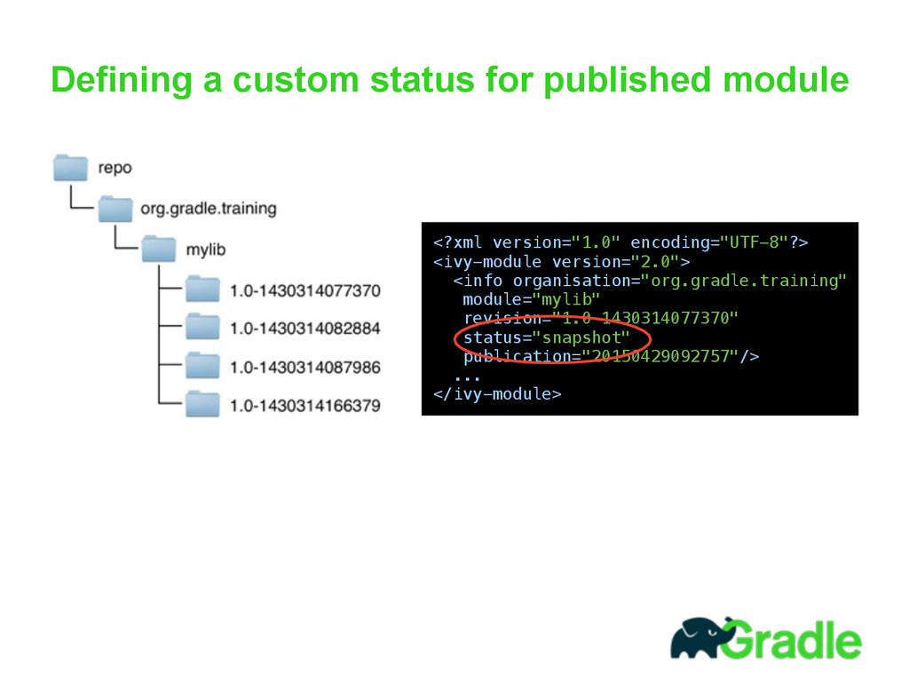 Defining a custom status for published module 
