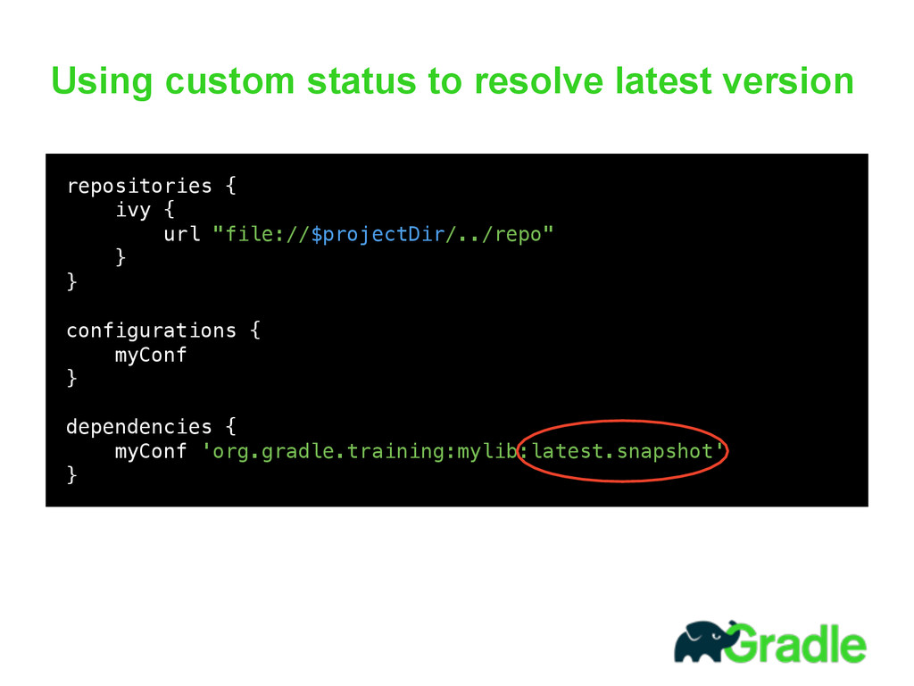 Using custom status to resolve latest version 