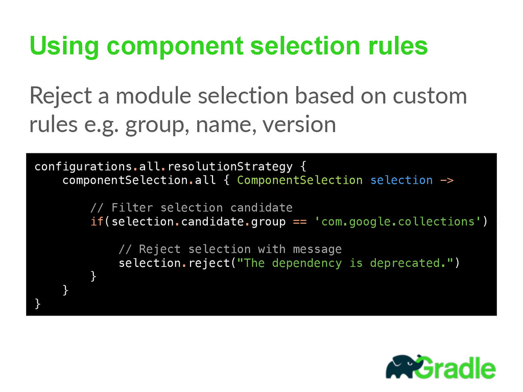 Using component selection rules Reject  a  modu...